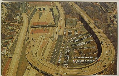 1950s Lincoln Tunnel Weehawken New Jersey Vintage Photo Postcard