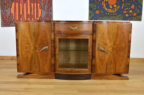 Buffet Vintage Loupe De Noyer 30 40 Meubles Art Deco Mobilier De Salon Deco