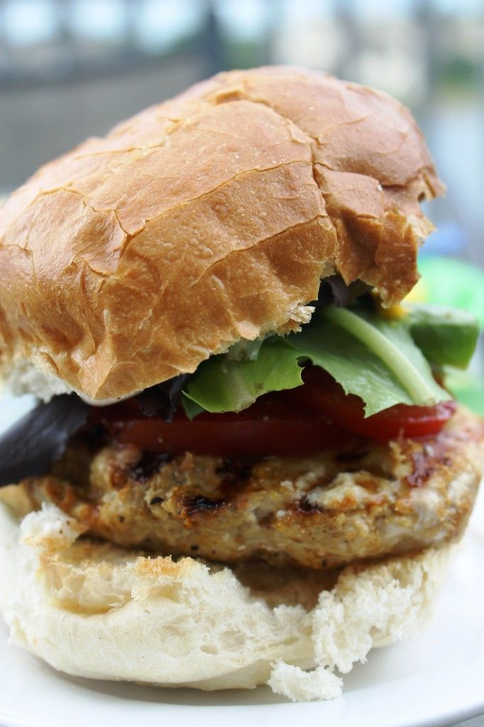 Cheese and Herb Stuffed Turkey Burgers - uses my favorite Laughing Cow ...
