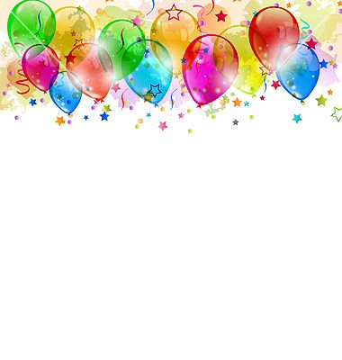 Free Vector | Set party balloons confetti with space for text vector - by smeagorl on VectorStock®
