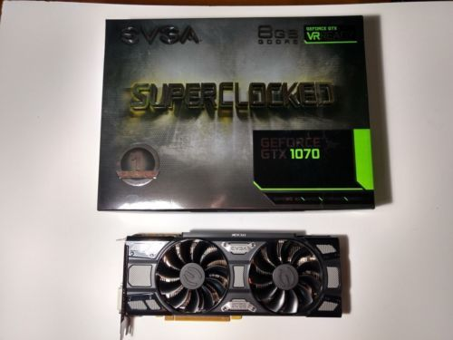 EVGA NVIDIA GeForce GTX 1070 Superclocked Gaming 8gb Gddr5