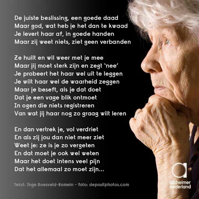 Alzheimer, wat een mooie tekst