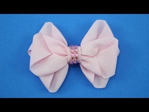 Passo a passo: Laço de fita de gorgurão. DIY Grosgrain ribbon bow, My Crafts and DIY Projects