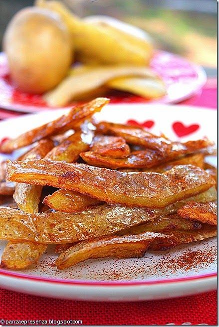Panza & Presenza: Le bucce di patate con miele e paprika piccante