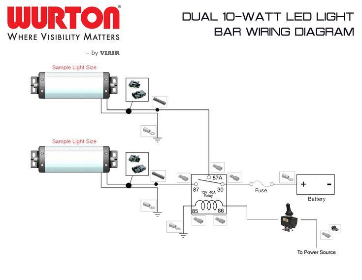Off Road Lights Wiring Diagram In 2020 Bar Lighting Whelen Lights Led Light Bars