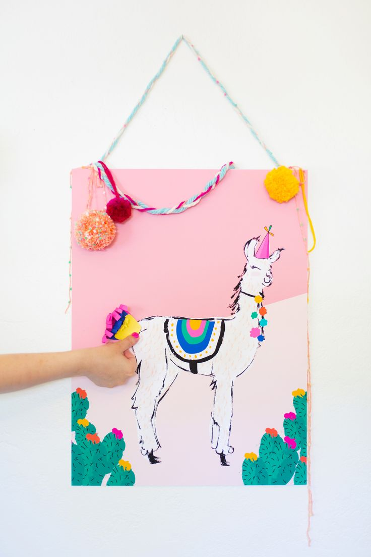 Pin the Tail on the Llama Game for Cinco de Mayo » Lovely Indeed