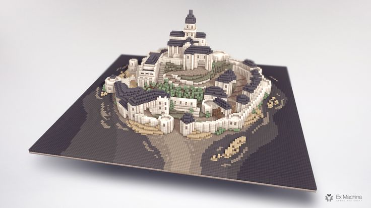A castle on sea / made with Magicavoxel