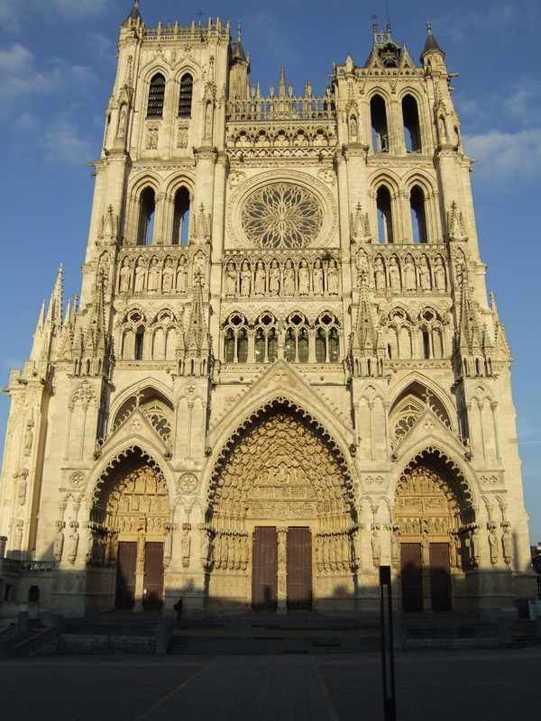 Amiens Cathedral in France.  I took a medieval art history class at UVA, much of which consisted of studying French cathedrals.  Ever since then, I always have wanted to go on a French cathedral trip.