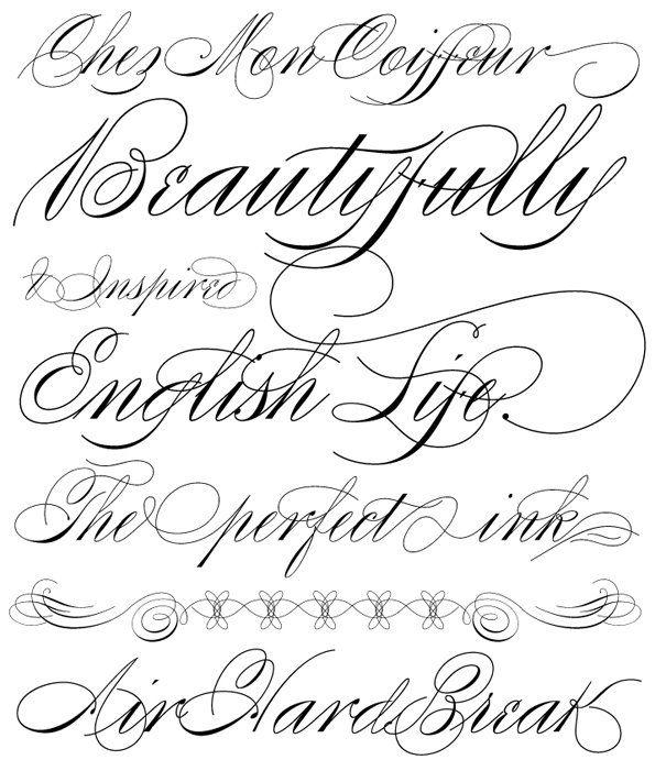 Script Font Identification - Casual Flowing Script - Type Samples