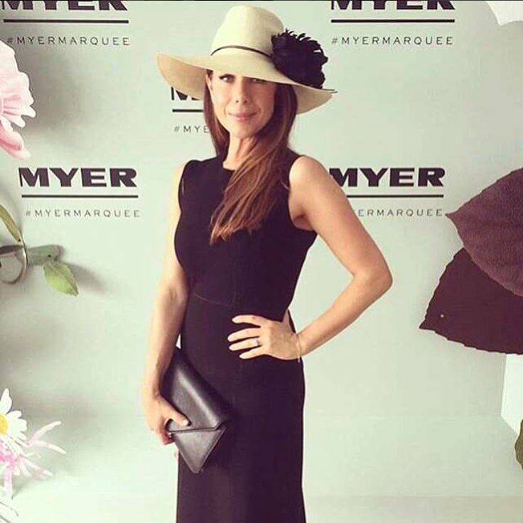 Australia's beloved, @kateritchieofficial dressed to the nines in @ferragamo and a #StTropeztan at Derby Day.