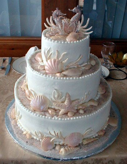 wilton baby cakes | This wedding cake was delivered to a ship for a wedding reception in ...