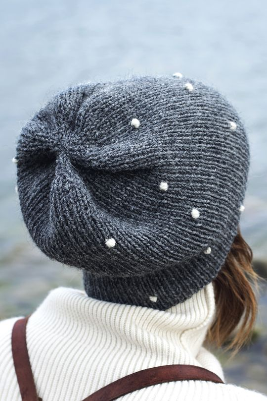 Snowball beanie by Novita - could also use beads