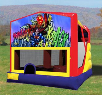 Super Man Combo Bounce house with slide on inside! On sale! Call to rent (413)230-0596