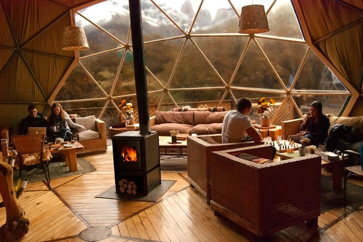 Community Dome, Ecocamp Patagonia - Chile #domes #ecotourism #travel