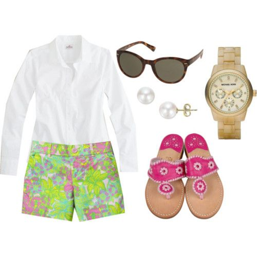 love it!Jack Rogers, Perfect Preppy, Style, Clothing, Closets, Lilly Shorts, Summer Outfits, Hot Pink, Spring Outfits
