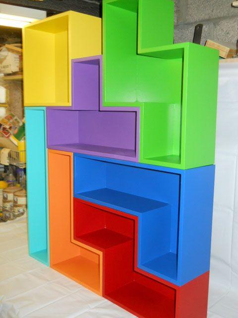 Tetris shelves - Étagères Tetris. Modules séparables
