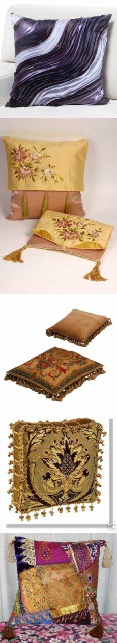 Идеи для диванных подушек.