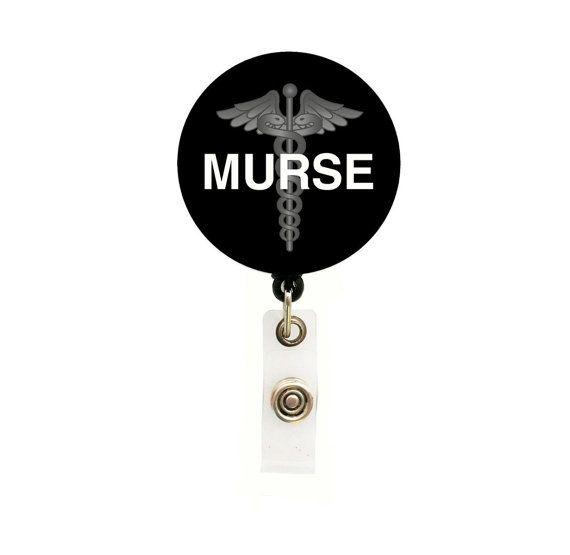 Male Nurse Retractable Badge Reel - Medical Badge Reels - Tech ID Holders - Gifts Under 10 - Designer ID Reels Badge - Murse Badge on Etsy, $7.75