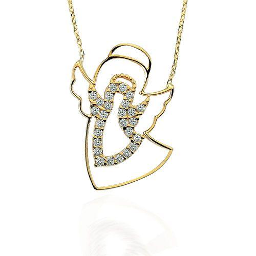 Altın Kolye - 14 Ayar Glorria Melek Altın Kolye - CN0081