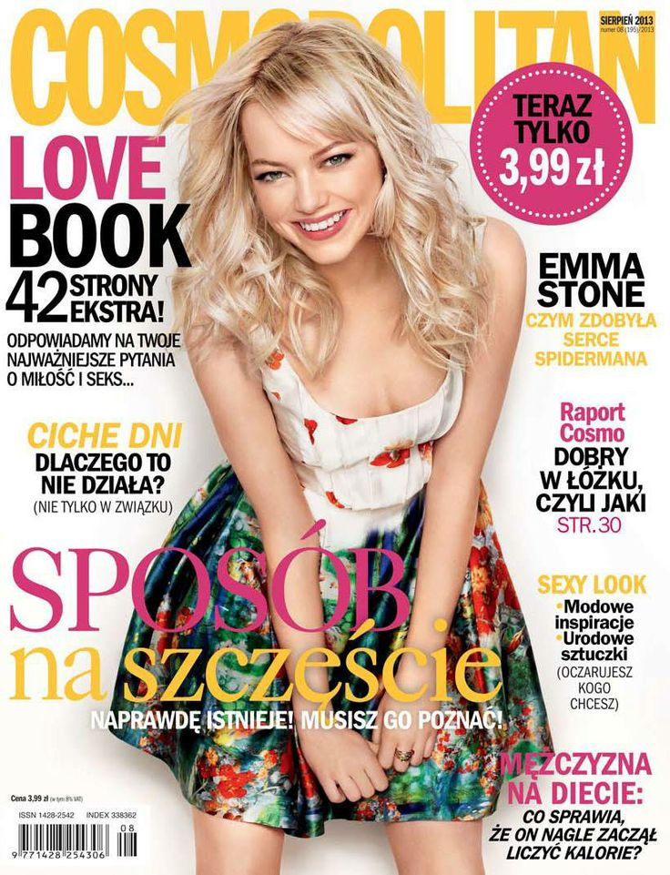 COSMOPOLITAN edycja polska / Emma Stone / sierpień 2013    www.cosmopolitan.pl