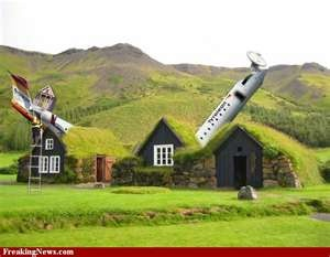 Strange airplane house. I think this is for real but don't know where it is.