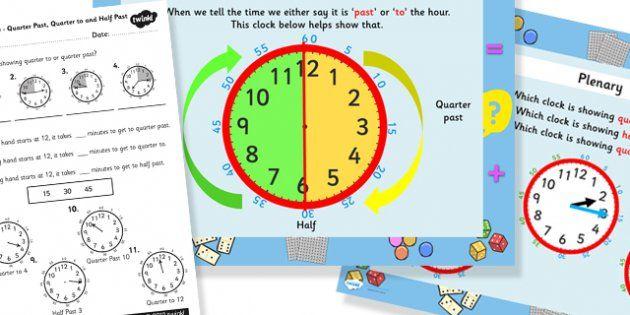 Time Worksheets : time worksheets quarter past half past Time ...