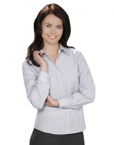 Ladies New Yorker Long Sleeve Shirt - LB2730 - Biz Collection | Clothing Direct