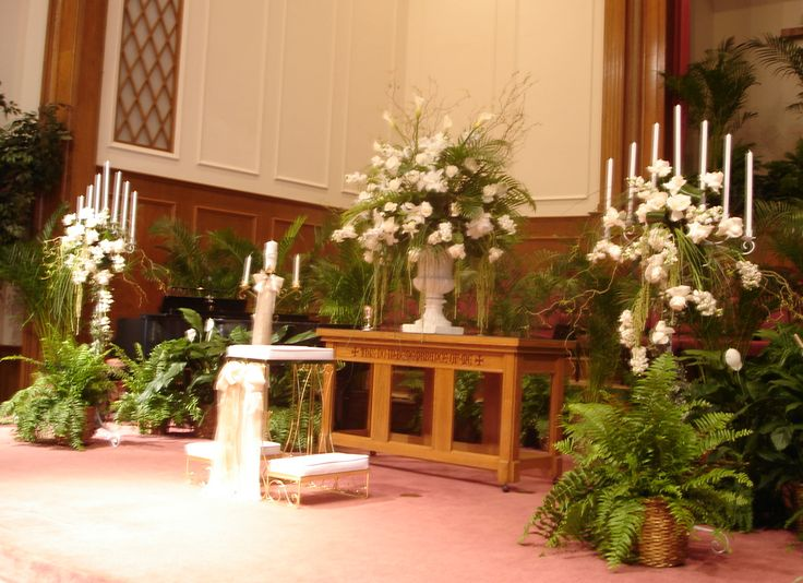 1000 images about church wedding decorations on pinterest for Church wedding altar decoration ideas