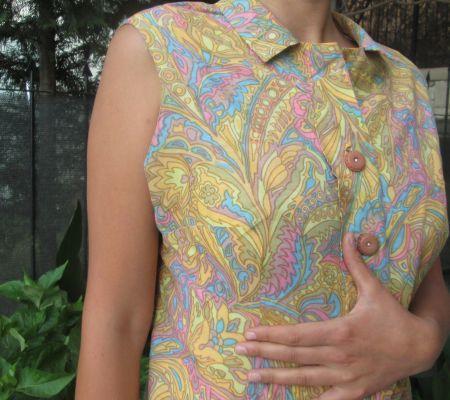 Vintage Elbise El Dikimi / Vintage Handmade Colorfull Dress Opuspocus Butik- 45 TL http://www.opuspocusbutik.com/urun/vintage-elbise-el-dikimi/245928