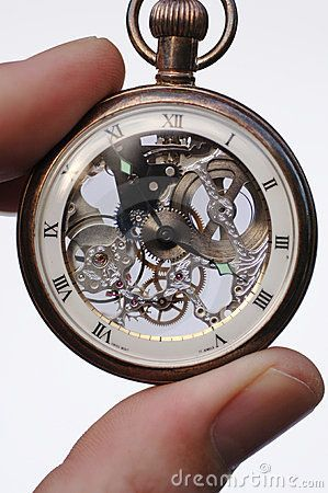 Stock Photography: An antique Swiss pocket watch which has ...