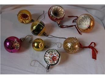 Gamla/äldre julgranskulor,dekoration