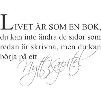 Livet är som en bok..