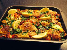 Mina matminnen: Spaanse rijst uit de oven met kip en chorizo, Spanskt ris i ugn med kyckling och chorizo
