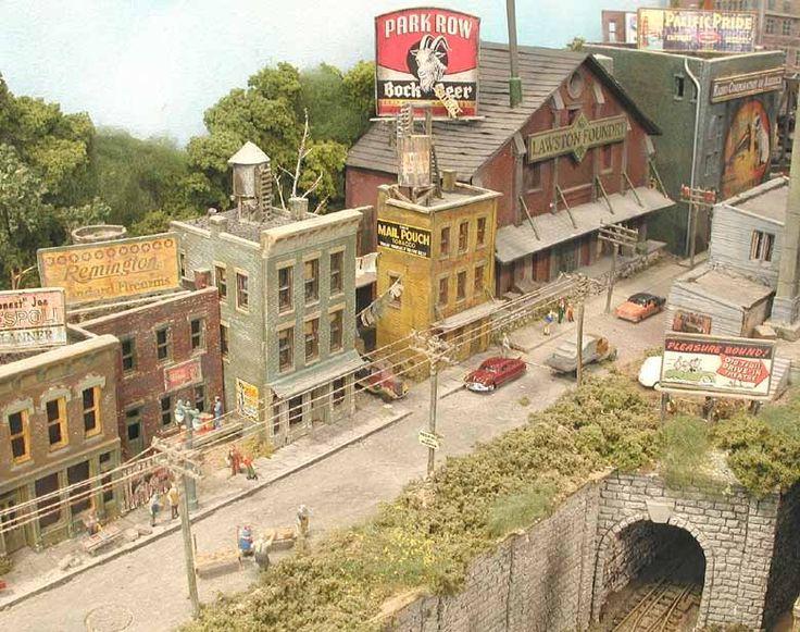 Town Scene #miniatures #modeltrains