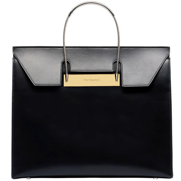 Balenciaga Cable Flap Shopper M (30.946.360 IDR) ❤ liked on Polyvore featuring bags, handbags, tote bags, black shopper tote, shopping tote, shopper purses, shopper handbags and balenciaga tote bag