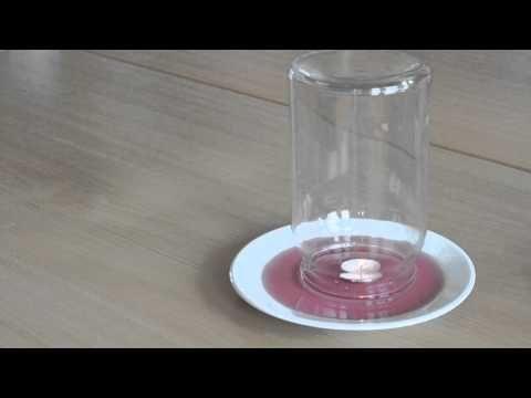 Proefje: Kaarsje onder glas. Simpel proefje, maar niet makkelijk!