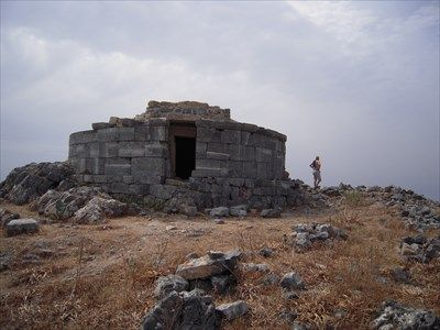 The alleged tomb of Cleobulus (6th c. BC), Lindos, Rhodes, Greece