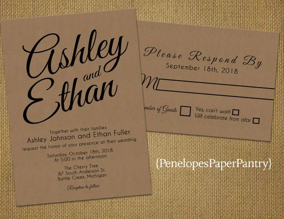 Elegant Kraft Paper Wedding By PenelopesPaperPantry On Etsy