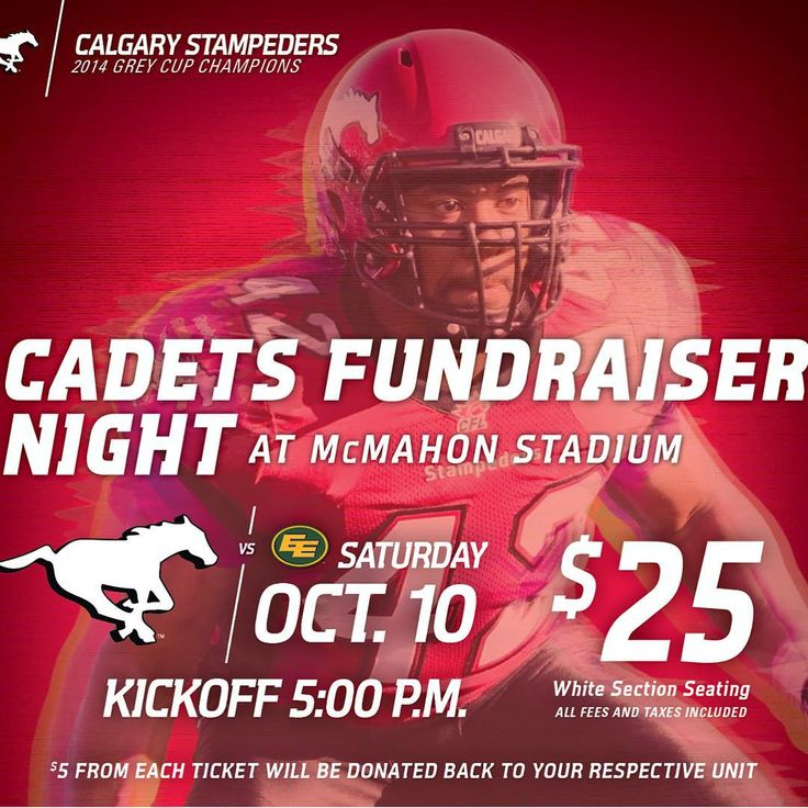 We have tickets available for the October 10th Calgary Stampeders game!