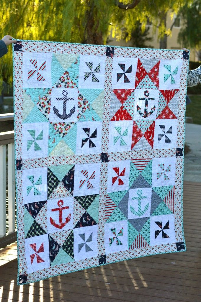 Best 25 nautical quilt ideas on pinterest nautical baby for Nautical projects