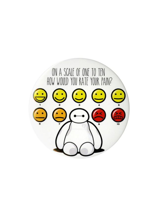 "Disney Big Hero 6 Baymax Pain Scale 3"" Pin 