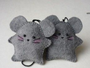 schattige muisjes van vilt