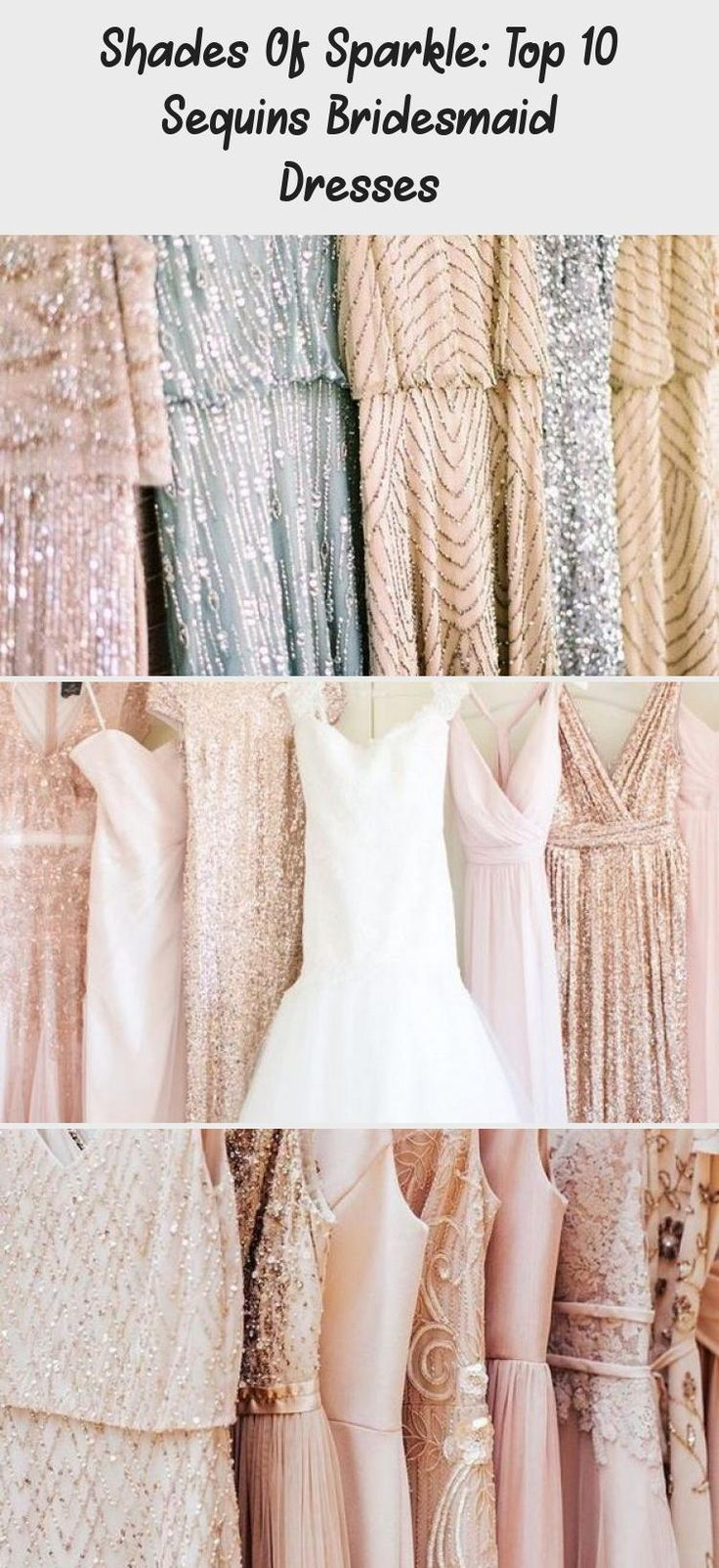 mix and match neutral glitter bridesmaid dresses #emmalovesweddings #weddingideas2019 #WhiteBridesmaidDresses #BridesmaidDressesStyles #BridesmaidDressesBlue #BridesmaidDressesPlusSize #OffTheShoulderBridesmaidDresses