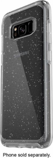 OtterBox - Symmetry Series Case for Samsung Galaxy S8 - Clear/silver flake - Front Zoom