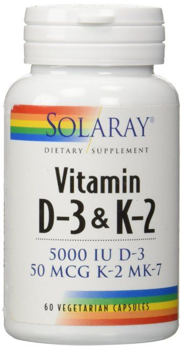 Solaray Vitamin D-3 & K-2 -- These vitamins work in combination for optimal health benefits. If you take Vit D, the Vit K is essential.