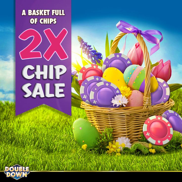 (EXPIRED) The 2x chip sale is here to DOUBLE your chips... and give you more chances for the Easter hunt! Tap the Pinned Link for 150,000 FREE chips (or use code MQFPHW)
