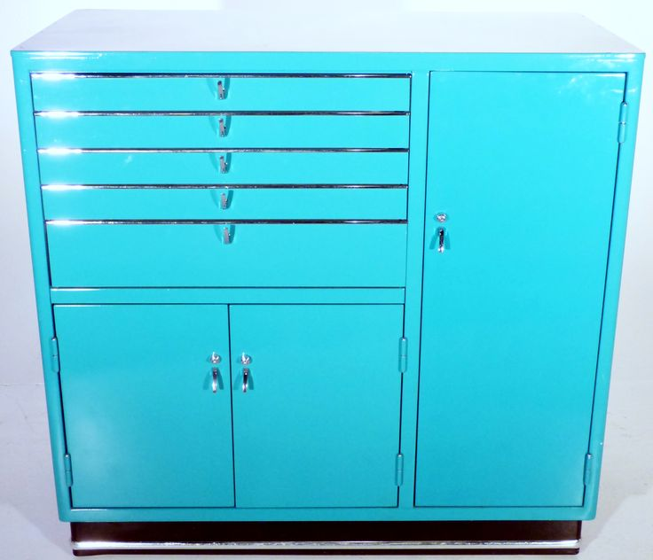 Image of Vintage Turquoise Medical Cabinet by Karl Baisch