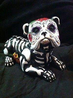 Upcycled Day of the Dead Figures