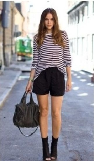 #SheInside Striped Losse Long-sleeved T-shirt - Sheinside.com