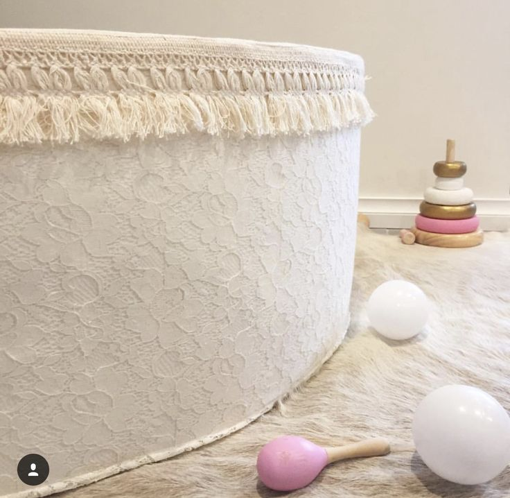 Ivory lace ballpit. @mila.and.chloe
